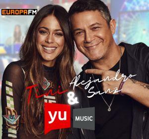 Alejandro Sanz y Tini en 'yu Music'