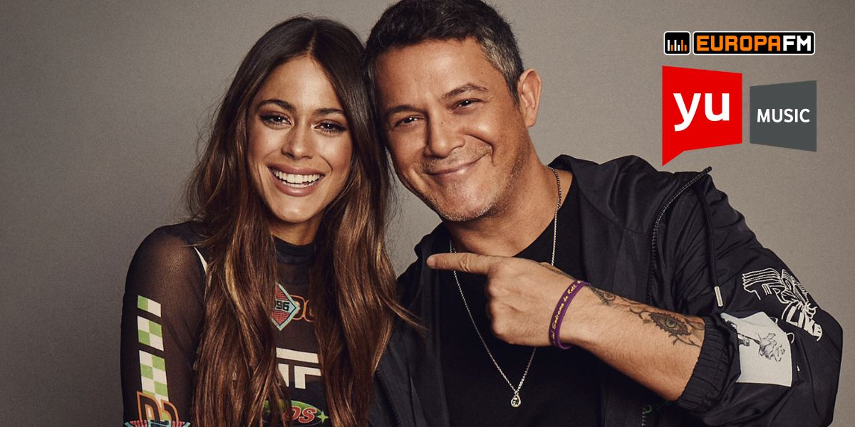 Alejandro Sanz y Tini visitan 'yu Music'