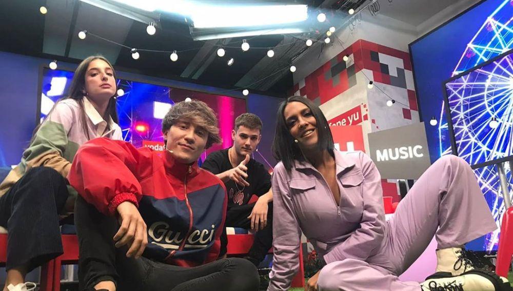 Delaporte y Bnet con Carlos Marco y Lorena Castell en 'yuMusic'