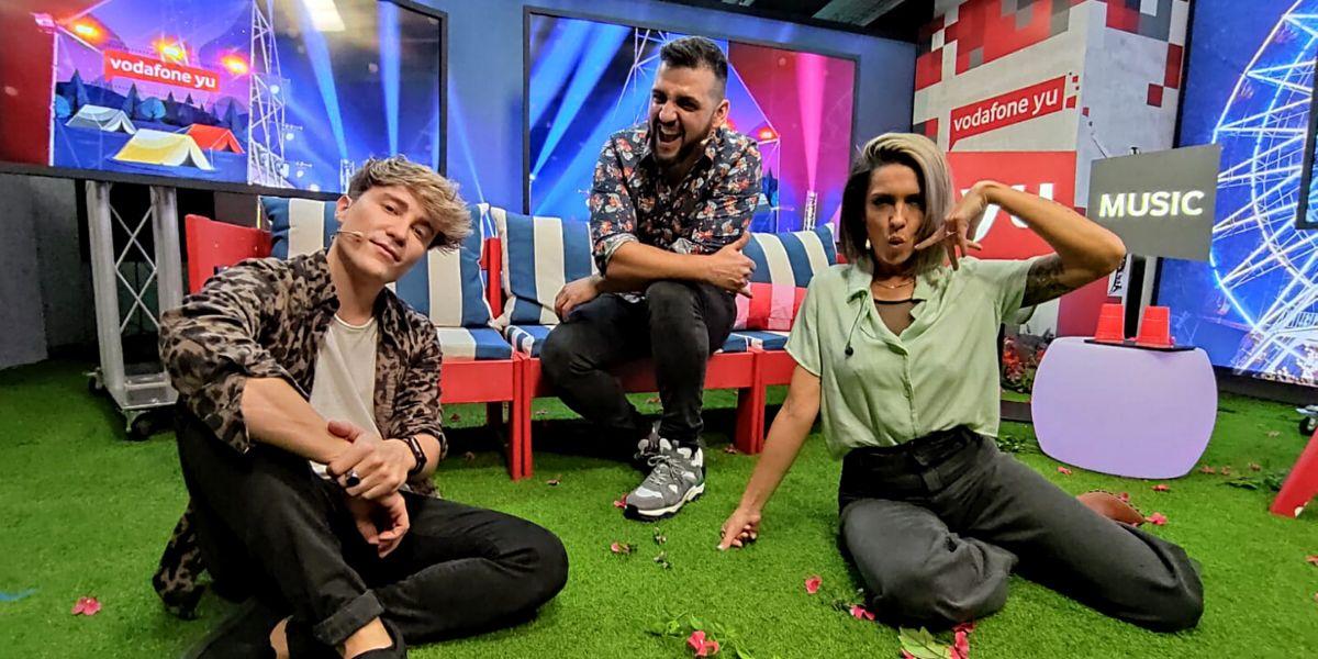 Carlos Marco, Fran Perea y Lorena Castell en 'yu Music'