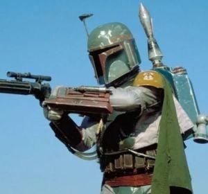 Jeremy Bulloch en su papel de Boba Fett en Star Wars