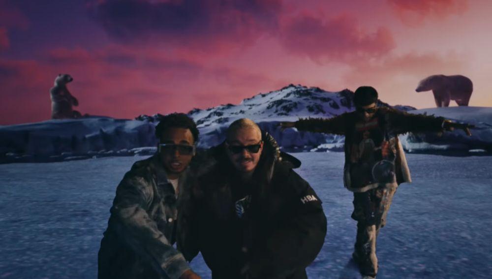 Ozuna, J Balvin y Chencho Corleone en el videoclip de 'La Locura'