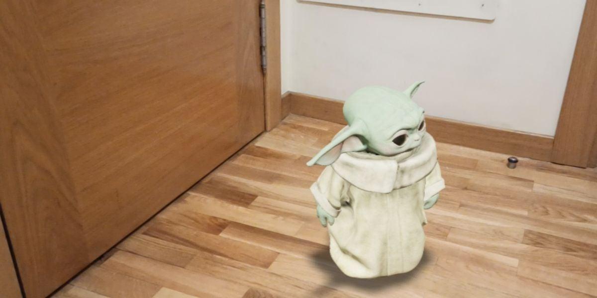 Baby Yoda en realidad aumentada
