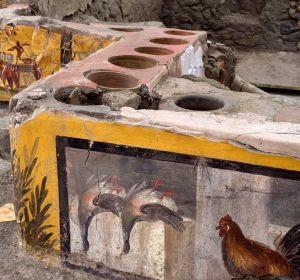 Termopolio encontrado en la ciudad romana de Pompeya