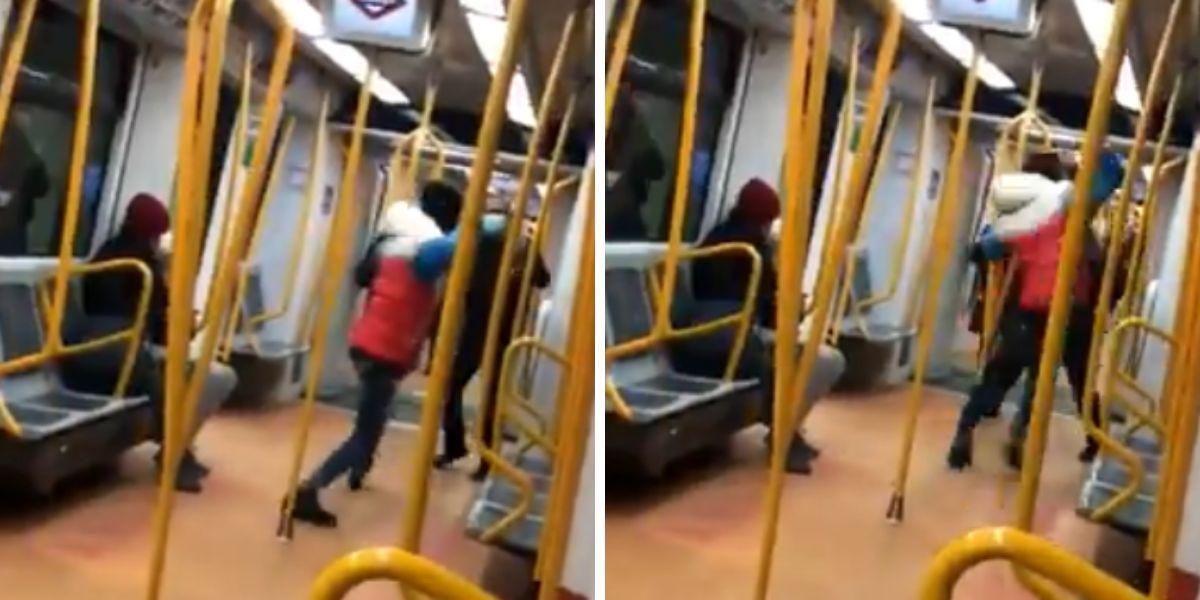 Agresión con un cinturón en el metro de Madrid