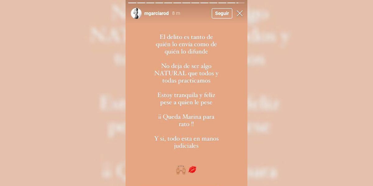 Mensaje de Marina, concursante de 'La Isla de las Tentaciones 3', en Instagram