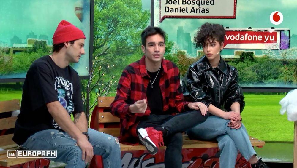 Mina El Hammami, Daniel Arias y Joel Bosqued