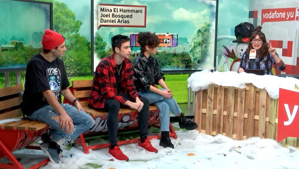 Mina El Hammani, Daniel Arias y Joel Bosqued en yu