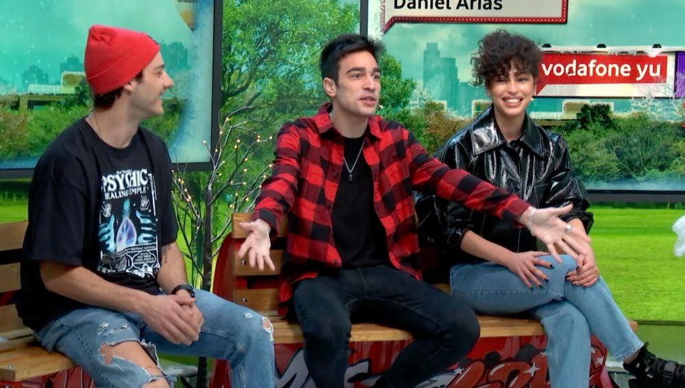 Mina El Hammami, Daniel Arias y Joel Bosqued en yu