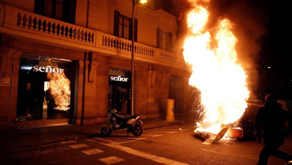 Disturbios manifestación Pablo Hasél