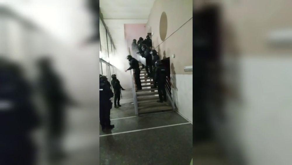 Los Mossos entran al rectorado de la Universidad de Lleida para detener al rapero Pablo Hasel