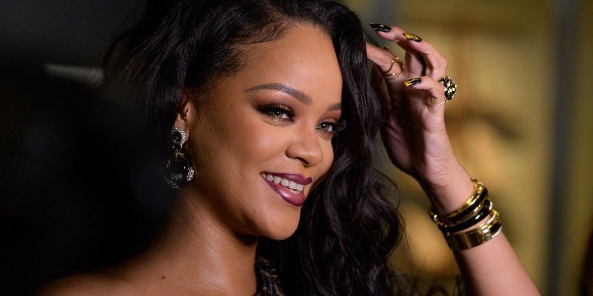 Rihanna en la presentación de su autobiografía