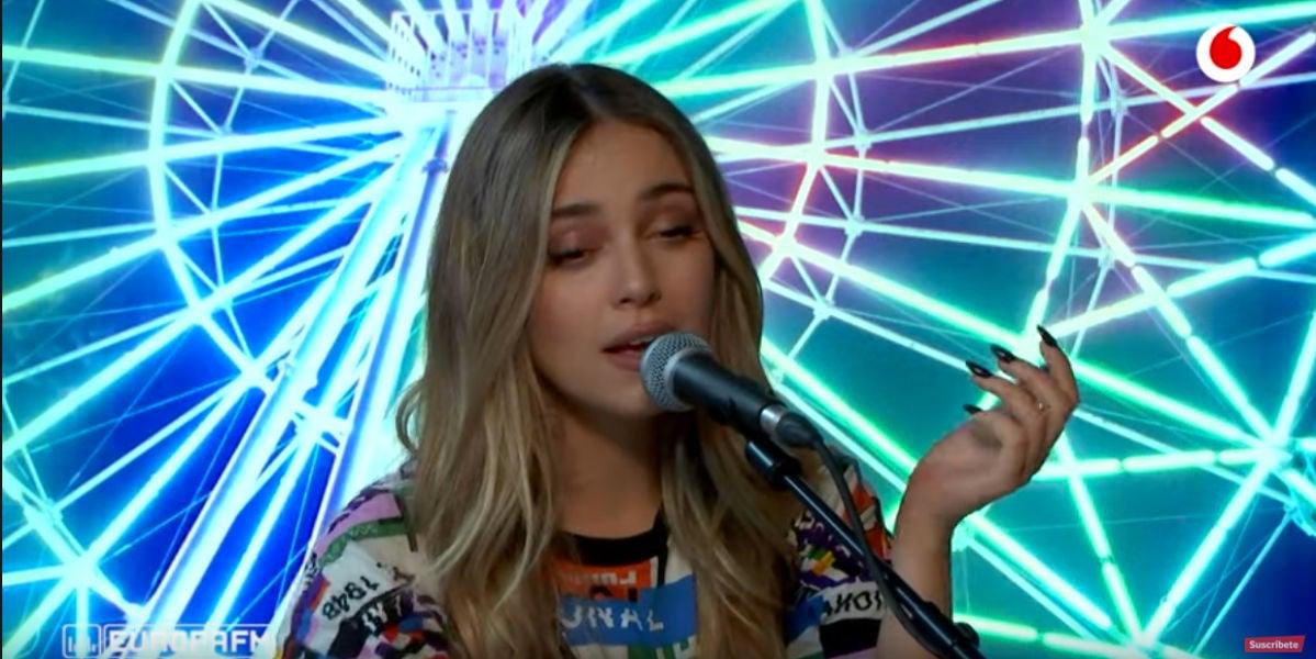 Ana Mena durante su actuación en 'yu Music'.