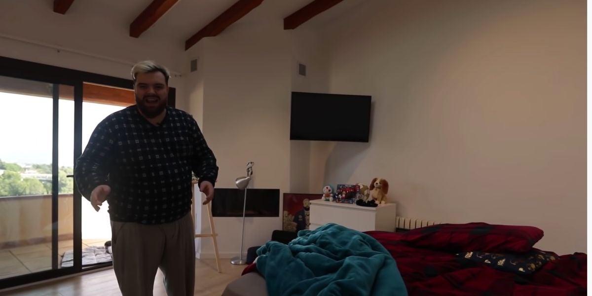 La primera vez que Ibai tiene una tele en la habitación.