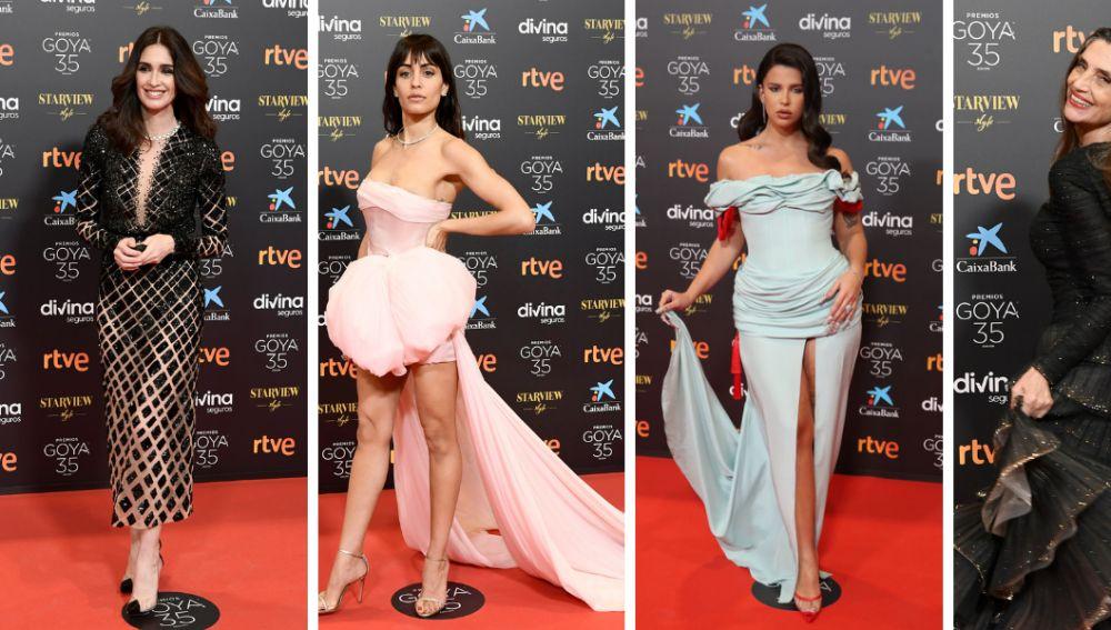 Los vestidos más llamativos de los premios Goya 2021