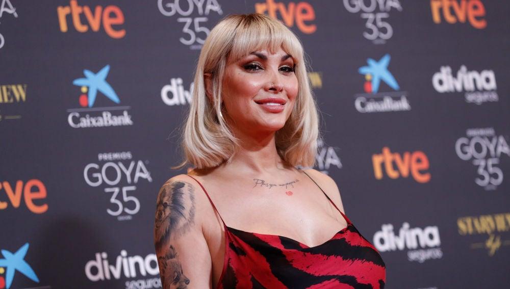 Daniela Santiago, en la alfombra roja de la gala de los Goya 2021.