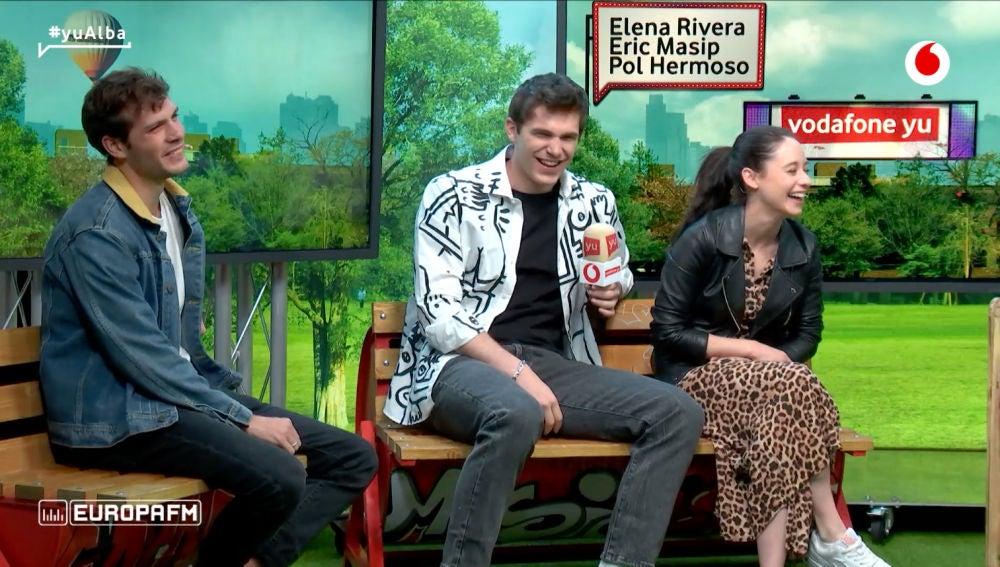 Elena Rivera, Eric Masip y Pol Hermoso en 'yu No te pierdas nada'