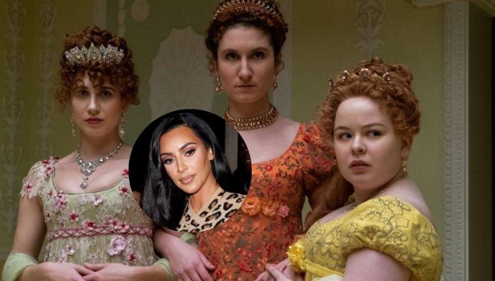 La reacción de Kim Kardashian al descubrir que Los Bridgerton se inspiraron en ella y sus hermanas