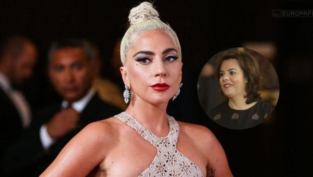 La foto viral en la que comparan a Lagy Gaga con Soraya Sáenz de Santamaría